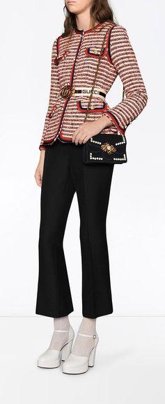 GUCCI Broadway velvet mini bag, explore new season Gucci on Farfetch now.