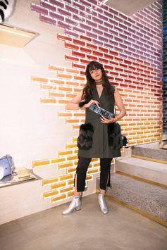 Alisa Urahama is feeling the Fendi vibe at the Fendi Omotesando opening in Tokyo.