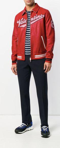 Valentino Logo Leather Jacket