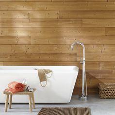 Ambiance sauna, bain relaxant. #salledebains #lambris #zen #nature