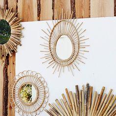 Miroir ovale en bambou naturel Madam Stoltz
