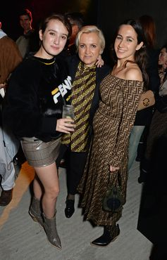 Leonetta Luciano Fendi, Silvia Venturini Fendi and Delfina Delettrez Fendi at the FF Reloaded Experience in London.