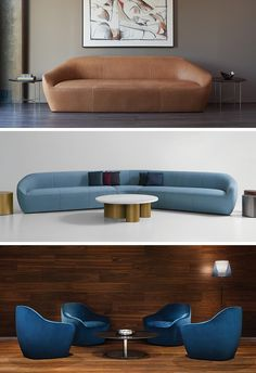 Terry Crews has designed Becca, a fully upholstered lounge and armchair, with soft curves, and a variety of sizes.