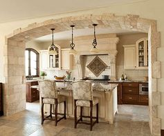 If I dreamed... one of them would look like this! Tuscan Italian kitchen #tuscan #kitchen