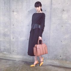 Style statement: Mirei Kiritani and her Tod's Sella Bag. #TodsSellaBag