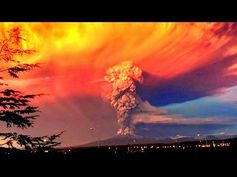 2 Large UFO Orbs Seen Near Calbuco Volcano During Eruption In Chile'.