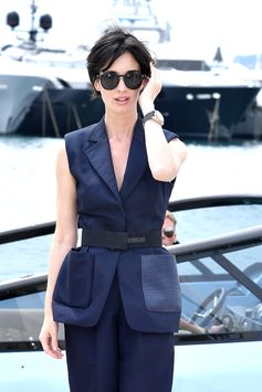#PazVega steps out in Ferragamo head to toe during the 2017 Cannes Festival.