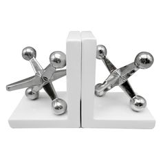 12X7IN SILVER CER JACK BOOKEND | At Home