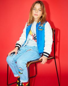 Beano prints for boys feature on bomber jackets, jeans and tees, with some familiar faces making a special appearance…  . @Beano_Official #StellaKids #StellaMcCartneyKids