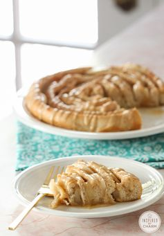 A Year of Yeast: Spiral Apple Bread with Caramel Apple Glaze