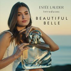 """All about love and the thrill of being in it. Ditch your """"Something Old"""" and discover something new: Beautiful Belle, the latest fragrance by Estée Lauder. Available now in-store and online."""