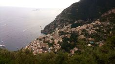 View of Positano from the hamlet Nocelle.