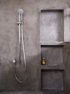 Image result for concrete shower walls