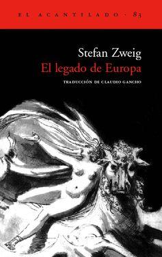 """En El legado de Europa, Stefan Zweig rinde homenaje a los artistas que supieron expresar la esencia de la conciencia común europea. Tras la fragmentación de esa patria compartida que fue Europa, Zweig la reconstruyó en el único mundo que le era posible, el del espíritu. Son autores que fueron sus compañeros de viaje: Montaigne, Chateaubriand, Wassermann, Rilke, Roth... Buen momento para releerlo, ahora que vivimos otro momento de """"fractura de la conciencia común europea""""."""