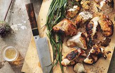 Garlic-and-Rosemary Grilled Chicken with Scallions Recipe by Bon Appétit - Great step-by-step instructions for this fabulous meal.