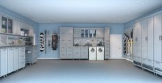 custom garage cabinets with a woman's touch :)I want this for my garage.....