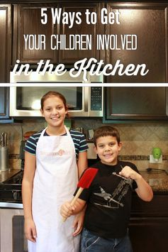 5 ways to get children involved in the kitchen