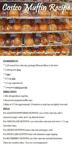 COSTCO MUFFIN RECIPE...must try these.