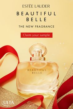 Claim Your Free Sample! Spread holiday cheer this season with the gift of an unexpected new fragrance: Beautiful Belle by Estée Lauder. Modern, yet romantic, this sparkling blend of Rose, Gardenia, Lychee, and Marzipan Musk notes makes an unforgettable gift.  Available now in-store and online at Ulta Beauty.
