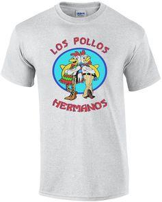 Los Pollos Hermanos Shirt - Men's regular, Medium, Ash gray