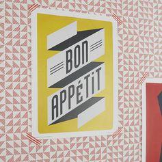 Affiche Bon appétit l.30 x H.40 cm  #leroymerlin #tendance #citypop #affiche #poster #bonappetit #ideedeco #madecoamoi