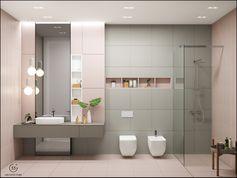 Kids bathroom by 33by.pro bathroom #bathroomdesign #tiles #baderom #interior_delux #banheiros #bathroompic #bathroominspiration #bathrooms #bathdesign #bathroomdecor #interiors #interior #interiør #interiordesign #interieur #casa