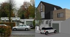 Renovation: a new neighbour. © Architechten LMS Vermeersch