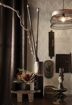 La Suspension Design Manam métal noir reflète bien la tendance Afrique Revisitée !   #leroymerlin #tendance #afrique #lustre #ideedeco #madecoamoi