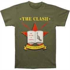 Clash Know Your Rights Slim Fit T-shirt (Size: Medium)