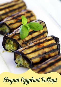 Elegant Eggplant Rollups Recipe #summer