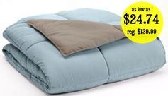 Kohls.com:  Home Classics Reversible Alternative Comforters (8 colors) = as low as $24.74 + FREE Shipping! Regularly $139.99!
