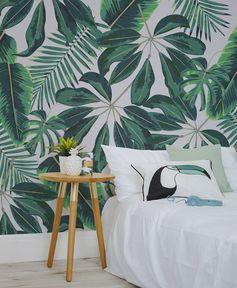 """Ma chambre version """"green"""" - papier peint - Le blog déco de MLC"""
