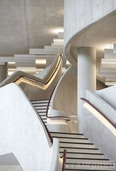 Staircase, Hiscox office building, York, England, designed by Make Architects