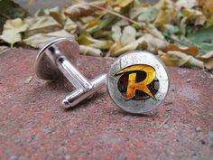 Robin+Logo+Cuff+Links+Custom+Cufflinks+Tie+Clip+by+dlosiegranby