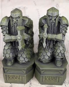 Hobbit The Gate of the Lonely Mountain Treasures Dwarf Statue Figurine Bookends in Home & Garden, Home Décor, Bookends | eBay