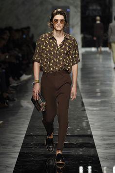 The Fendi Men's Spring/ Summer 2018 Collection designed by Creative Director Silvia Venturini Fendi
