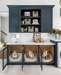 Built in Dog Kennel Mudroom Dog Kennel Cabinet Mudroom Dog Kennel Cabinet Ideas #BuiltinDogKennel #Mudroom #DogKennelCabinet Home Bunch Blog #Dogkenneldesigns