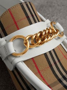 The 1983 Check Link Loafer by #Burberry - a classic leather-trim style refreshed in our 1983 check with a polished chain