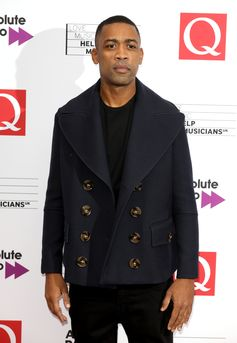 QAwards winner Wiley wears a Burberry coat to the event in London