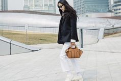 Urban and contemporary: Sung Hee Kim wearing her Tod's Sella Bag. #TodsSellaBag