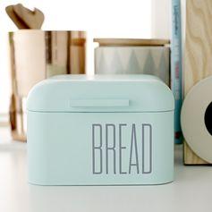 Boîte à pain métal vert menthe inscription Bread Bloomingville : Decoclico