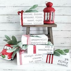 DIY Stamped Books Free Printable Covers