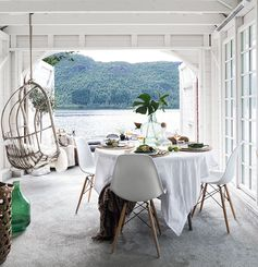 Escape for a Minute to This Utterly Perfect Scandi Boathouse