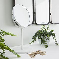 Miroir grossissant à poser blanc double face