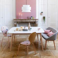 Table carrée 8 personnes, jimi blanc La Redoute Interieurs | La Redoute Mobile