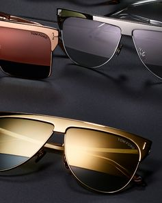 A luxurious pair of Sunglasses featuring the Winter Gold Plated Sunglasses. #TOMFORD #TFEYEWEAR