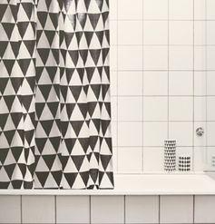 Rideau de douche en coton et acrylique Triangle Ferm Living