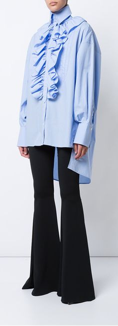 FAITH CONNEXION  oversized popover ruffled shirt, explore new season clothing on Farfetch now.