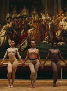 The iconic #Beyonce wears #Burberry Vintage check in the music video for her new track '#APESHIT'