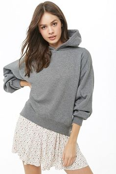 High-Low Fleece Hoodie